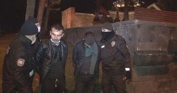 Mezarlıkta tüfekle havaya ateş açan 2 kişi yakalandı