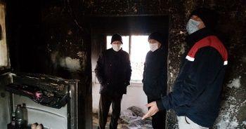 Sobayı benzinle tutuşturmak isteyince ev yandı