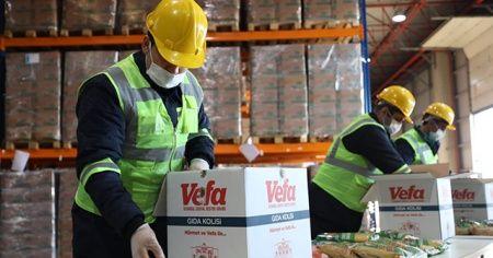 150 bin gıda kolisi hazırlandı