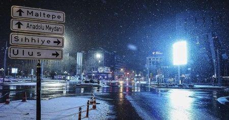 Ankara için kar ve buzlanma uyarısı
