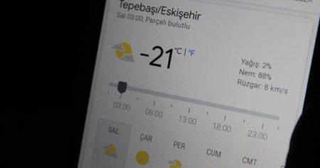 Eskişehir'de hava sıcaklığı bir haftada 41 derece değişti