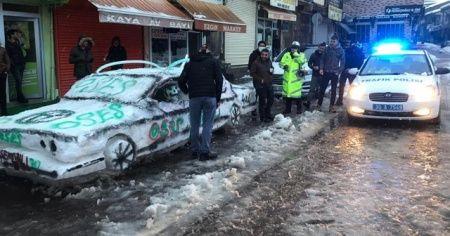 Esnaf kardan otomobil yaptı, polis ehliyet ruhsat sordu