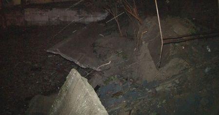İstinat duvarı çöktü, bina boşaltıldı
