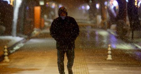 Kırklareli'nde kar etkili oluyor