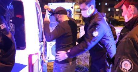 Kısıtlamada uyuşturucu ile yakalanınca gazetecilere bağırmaya başladı