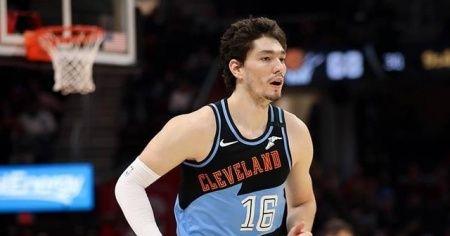 NBA'de Cavaliers Cedi'nin 25 sayı attığı Nets maçını iki uzatmada kazandı