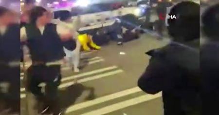 Polis aracı sokak yarışçılarını ezdi