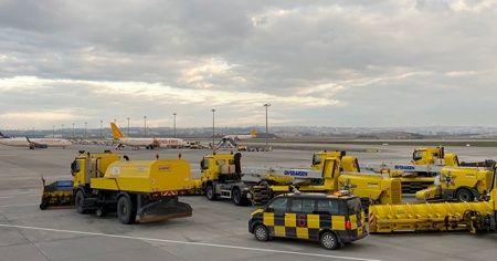 Sabiha Gökçen Havalimanı'nda kar önlemi alındı