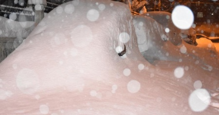 Şehir merkezine bir haftada 2 metre 28 santim kar yağdı