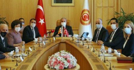 TBMM Başkanı Şentop Kuzey Makedonya Anayasa Mahkemesi Başkanını kabul etti