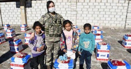 TSK'dan Rasulaynlı ihtiyaç sahiplerine gıda yardımı