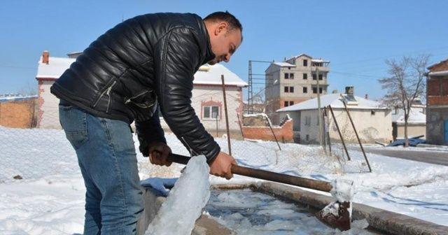 Altınyayla adeta dondu, Türkiye'nin en soğuk yeri oldu
