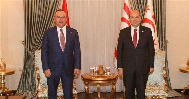 Bakan Çavuşoğlu, Ersin Tatar ile görüştü