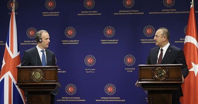 Dışişleri Bakanı Çavuşoğlu İngiliz mevkidaşı Raab ile telefonda görüştü