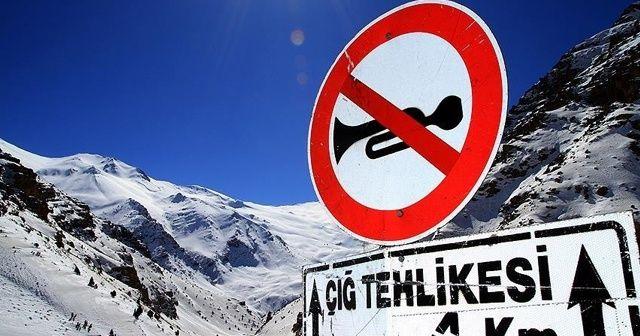 Dört il için çığ, buzlanma ve don uyarısı