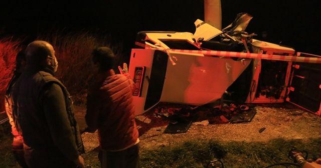 Muğla'da direğe çarpan otomobilin sürücüsü öldü