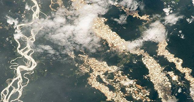 NASA, yasa dışı altın madenciliğini uzaydan fotoğrafladı