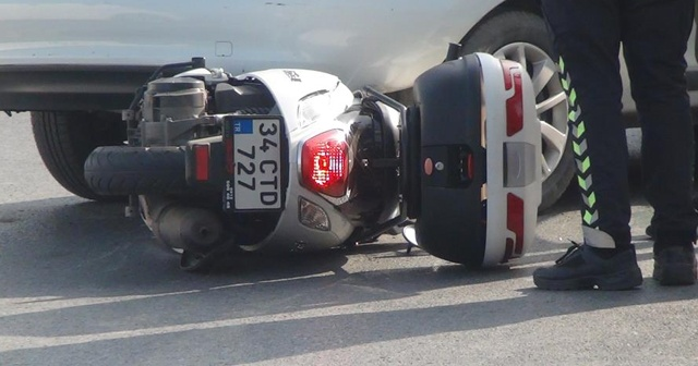 Sarıyer'de feci kaza: Motosikletli otomobilin altına girdi