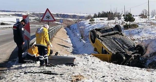 Takla atan aracın sürücüsü öldü