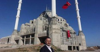 10 bin kişilik caminin kaba inşaatı tamam