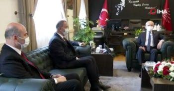 Bakan Akar ve İçişleri Bakanı Soylu, Kılıçdaroğlu ile görüştü
