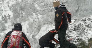Mahsur kalan şahıs donmak üzereyken kurtarıldı