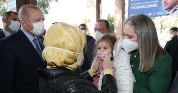 Cumhurbaşkanı Erdoğan, Ayda bebek ile görüştü