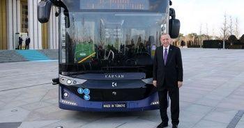 Erdoğan'dan elektrikli sürücüsüz otobüs paylaşımı