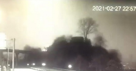 Atmosfere giren ve ortalığı gündüz gibi aydınlatan meteor görüntülendi