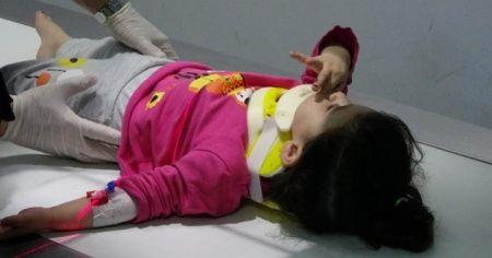 Pencereden düşen çocuğu ölümden çamaşır ipi kurtardı