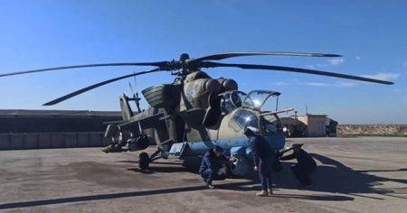 Rus helikopteri Suriye'de acil iniş yaptı