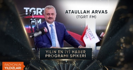 Yılın en iyi haber programı spikeri ödülü Ataullah Arvas'a verildi