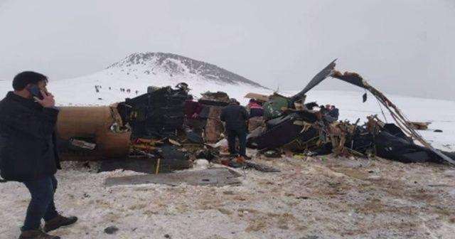 9 askerin şehit olduğu helikopter görüntülendi