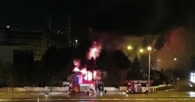 AFAD'ın yeni bina inşaatında yangın