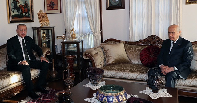 Cumhurbaşkanı Erdoğan, Bahçeli'yi ziyaret etti