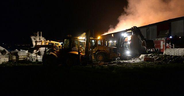 Kahramanmaraş'ta tekstil fabrikasının deposunda yangın