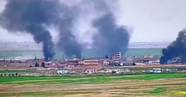 PKK/YPG'li teröristlerden algı operasyonu