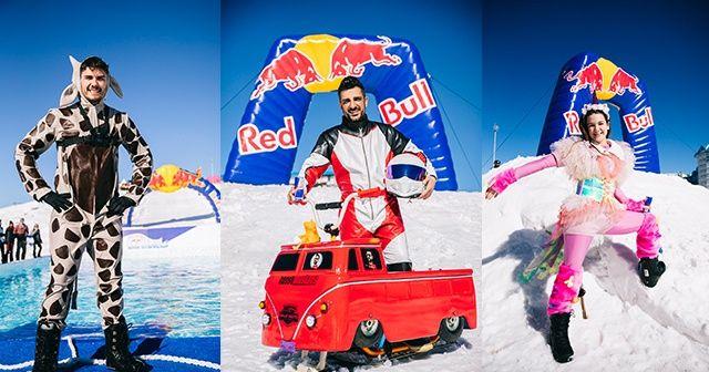 Red Bull Kar Havuzu filminde ünlü isimler buz gibi suyla dolu havuza atladılar
