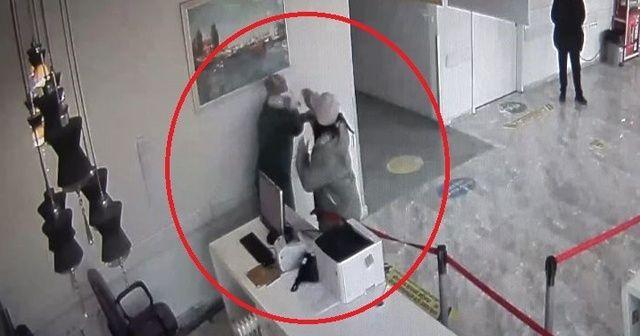 Sağlık çalışanına saldırı anı kamerada