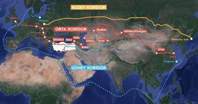 """Süveyş Kanalına alternatif en uygun taşıma rotası """"Orta Koridor"""""""
