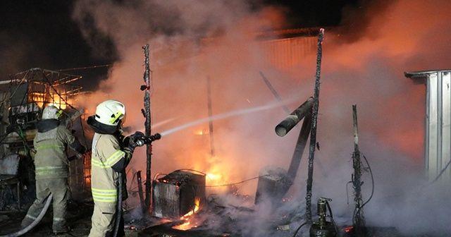 Tır bakım istasyonunda yangın