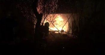 Amasya'da metruk evde çıkan yangın söndürüldü