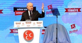 Bahçeli: HDP bir daha açılmamak üzere kapatılmalıdır