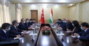 Bakan Çavuşoğlu, Tacikistan Temsilciler Meclisi Başkanı Zokirzoda ile görüştü