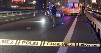 Basın Ekspres'te yolun karşısına geçen yaşlı adama araç çarptı