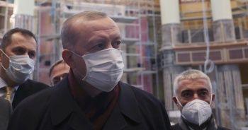 Cumhurbaşkanı Erdoğan, AKM ve Taksim Camii'nde incelemelerde bulundu