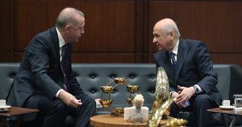Cumhurbaşkanı Erdoğan Devlet Bahçeli ile görüştü