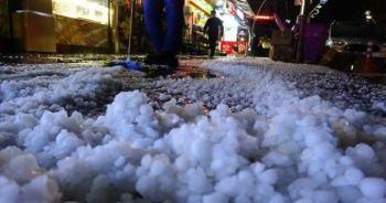 Dolunun vurduğu Tokat'ta caddeler beyaza büründü