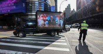 FETÖ ilanına karşı dijital ekranlı kamyonet dolaştırıldı