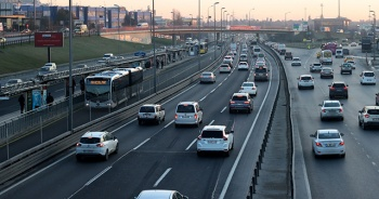 İstanbul'da trafik yoğunluğu